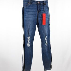 Celebrity Pink Mid rise Skinny Jeans /ripped knees